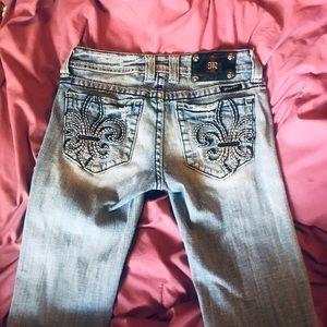 Miss Me bootcut jeans -27- flour de lis Mid-Rise